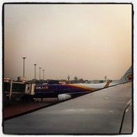 Photo taken at Thai Airways Flight TG 115 by Thomas P. on 2/26/2012
