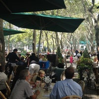 Photo taken at Southwest Porch at Bryant Park by Bradley R. on 9/12/2012