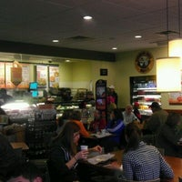 Photo taken at Einstein Bros Bagels by David W. on 3/10/2012