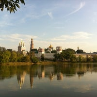 Photo taken at Novodevichy Convent by Alex K. on 8/4/2012