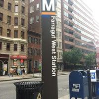 Photo taken at Farragut West Metro Station by Hallie on 6/1/2012