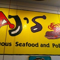 Photo taken at AJ's Famous Seafood and PoBoys by Grayson B. on 8/4/2012