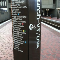 Photo taken at West Falls Church-VT/UVA Metro Station by Jessie H. on 2/16/2012