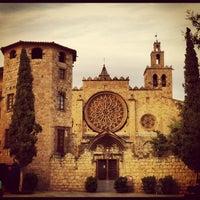 Photo taken at Monestir de Sant Cugat by Carlos R. on 7/3/2012