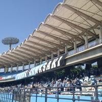 Photo taken at Todoroki Athletics Stadium by Takashi E. on 5/27/2012