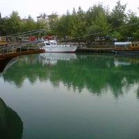 Photo taken at Manavgat Irmak Kenarı by Koray S. on 7/27/2012
