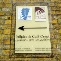 Photo taken at InSpire & Café Crypt at St Peter's by Leslie F. on 4/13/2012