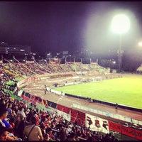 Photo taken at Estadio Olímpico Universitario by Juan Pablo G. on 4/5/2012