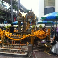 Photo taken at Erawan Shrine by Thanongsak C. on 8/13/2012
