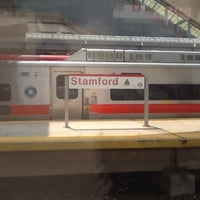 Photo taken at Stamford Transportation Center : Bus/Train (STM) Metro North & Amtrak by Joshua B. on 7/23/2012