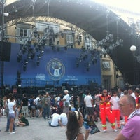 Photo taken at Piazza Napoleone by Rossella D. on 7/15/2012