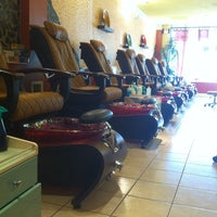 Photo taken at Luxury Nail Spa by Khanh N. on 5/30/2012