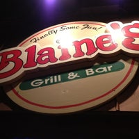Photo taken at Blaine's Grill & Bar by Scott R. on 8/5/2012