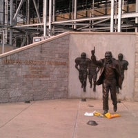 Photo taken at Joe Paterno Statue by Chris K. on 7/13/2012