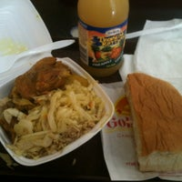 Photo taken at Golden Krust Caribbean Bakery and Grill by nadia on 9/1/2012