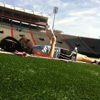Photo taken at Vaught-Hemingway Stadium by Claire E. on 3/1/2012
