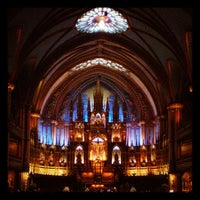Photo taken at Notre-Dame Basilica of Montréal by Kaori I. on 5/11/2012