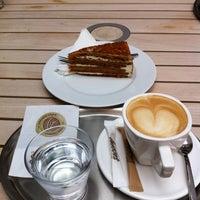 Photo taken at Cafe Vescovi by Monica O. on 8/7/2012