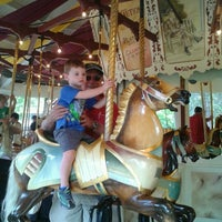 Photo taken at Congress Park Carousel by Marissa G. on 9/1/2012