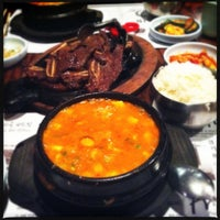 Photo taken at So Kong Dong Restaurant 소공동 순두부 by Ted R. on 4/11/2012