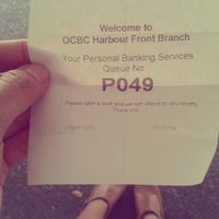 Photo taken at OCBC Bank by Aiyue on 5/12/2012