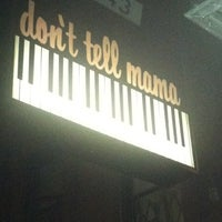 Photo taken at Don't Tell Mama by Christine M. on 5/3/2012