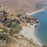 Photo taken at Preveli Beach by Panagiotis G. on 8/19/2012