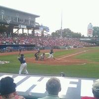 Photo taken at Northeast Delta Dental Stadium by Dan G. on 7/6/2012