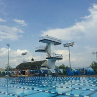 Photo taken at Penn State Outdoor Pool by Aaron M. on 5/7/2012