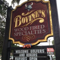 Photo taken at Bovine's Wood Fired Restaurant by Stace B. on 5/12/2012