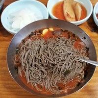 Photo taken at 동루골막국수 by Mina P. on 3/18/2012