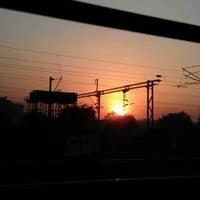 Photo taken at Balharshah Railway Station by Vasanth V. on 3/2/2012