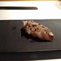 Photo taken at Sushi Azabu by Russell E. on 8/7/2012