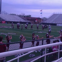 Photo taken at Jenks High School Football Stadium by Mindy T. on 8/25/2012