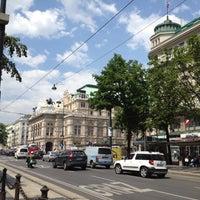 Photo taken at Haltestelle Wien Oper by Christine F. on 5/23/2012