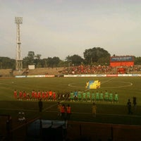Photo taken at Stadion Mulawarman by Margaretha O. on 3/17/2012