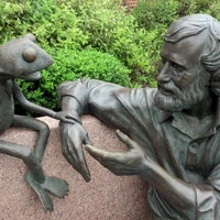 Photo taken at Jim Henson Statue by Richard M. on 8/25/2012