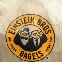 Photo taken at Einstein Bros Bagels by Vicky A. on 6/14/2012