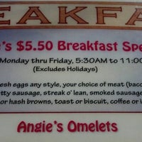 Photo taken at Angie's Restaurant by Brandon G. on 8/31/2012