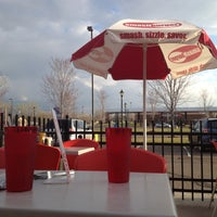 Photo taken at Smashburger by Christine C. on 3/23/2012