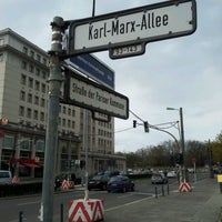 Photo taken at Karl-Marx-Allee by Alfredo on 4/15/2012