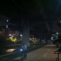 Photo taken at 홍제천변 by Gibum K. on 7/30/2012