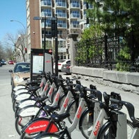 Photo taken at Station BIXI by JulienF on 4/18/2012