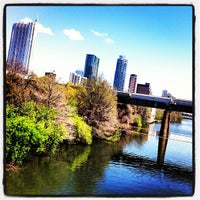 Photo taken at Pfluger Pedestrian Bridge by Will F. on 3/11/2012