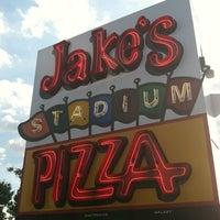 Photo taken at Jake's Stadium Pizza by Justin H. on 6/3/2012