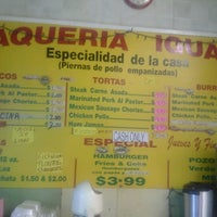 Photo taken at Taqueria Iguala by Jeff C. on 8/24/2012