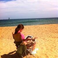 Photo taken at Sokcho Beach by Min-ki B. on 9/9/2012