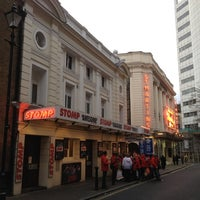Photo taken at Ambassadors Theatre by Moises C. on 3/18/2012