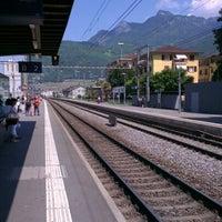 Photo taken at Gare d'Aigle by Malek F. on 5/28/2012