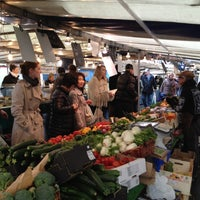 Photo taken at Marché de Raspail by Lionel S. on 4/29/2012